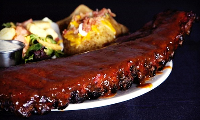 The Full Slab - Third Lake: Barbecue at The Full Slab (Half Off). Two Options Available.