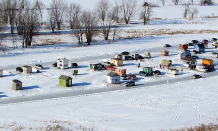 $69 for a Weekday Ice-Hut Rental with Wood, Bait, and Rods from Oziles' ($125 Value)