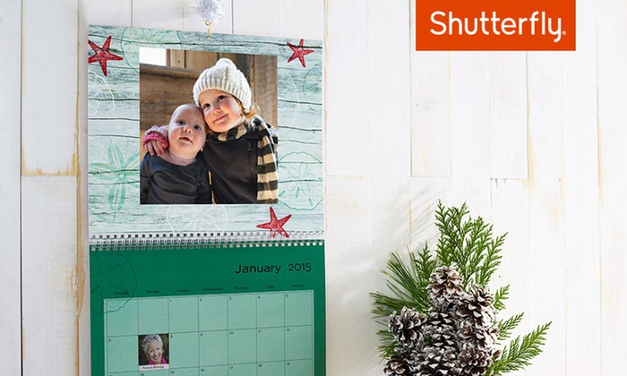 Shutterfly: $9 for an 8x11 Custom 12-Month Wall Calendar from Shutterfly (59% off)