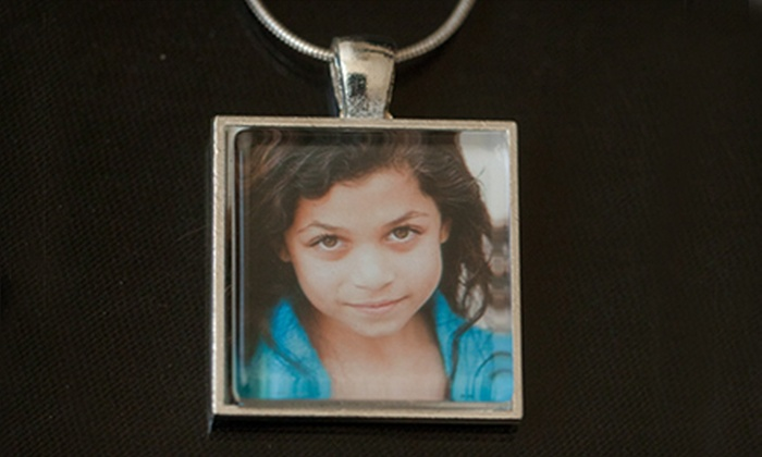 Chris & Courtney: Custom Photo Pendant or $12 for $24 Toward Handmade Jewelry from Chris & Courtney