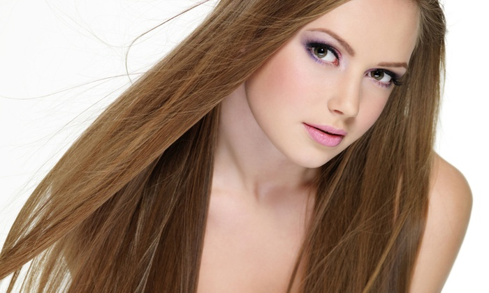 Salon Elemis - Toms River: Haircut, Deep Conditioning, and Brow Wax with Optional Partial or Full Highlights at Salon Elemis (Up to 72% Off)
