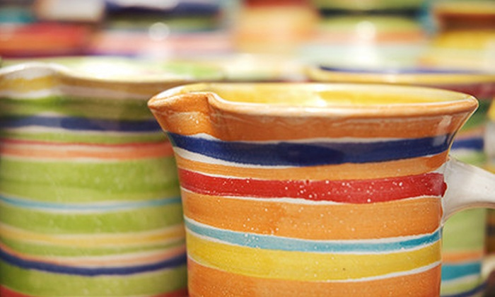 Art & Soul Pottery Studio - Art & Soul Pottery Studio: BYOB Pottery Painting for Two with Optional Instruction at Art & Soul Pottery Studio (Up to 53% Off)