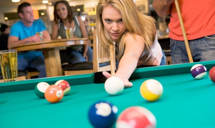 Billiards and Nonalcoholic Drinks for Four at Rockford Billiard Cafe (Up to 44% Off). Two Options Available.