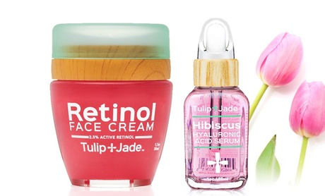 Tulip and Jade Retinol 2.5% and Pure Hyaluronic Acid Serum Bundle