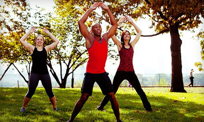 Gut Check Fitness - Multiple Locations: 5 or 10 Outdoor Boot-Camp Classes or One Month of Unlimited Classes at Gut Check Fitness (Up to 74% Off)