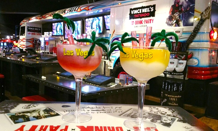 Vince Neil's Tatuado Eat Drink Party - The Strip: Two or Four 44-Ounce Blended Margaritas at Vince Neil's Tatuado Eat Drink Party (Up to 50%Off)