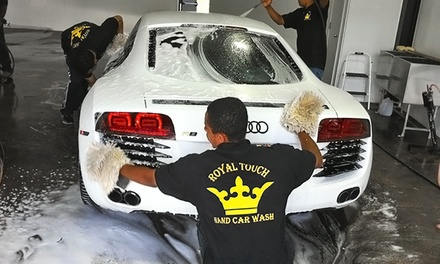 One or Three King Car Washes at Royal Touch Hand Car Wash (Up to 40% Off)