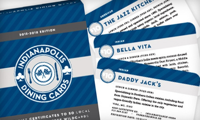 City Dining Cards: $10 for a Deck of Dining Cards with Discounts at 50 Restaurants from Indianapolis Dining Cards ($20 Value)