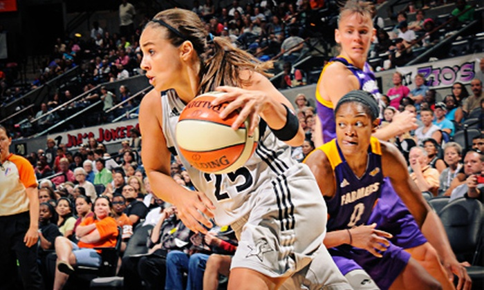 San Antonio Silver Stars - AT&T Center: San Antonio Silver Stars WNBA Game at AT&T Center on August 4 or 17 (Up to 77% Off). Two Seating Options Available.