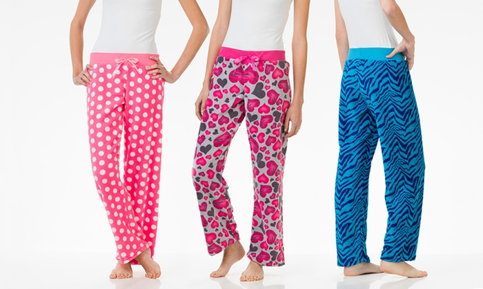 4-Pack of Women's Fluffy Lounge Pants: 4-Pack of Women's Fluffy Printed Lounge Pants. Free Returns.