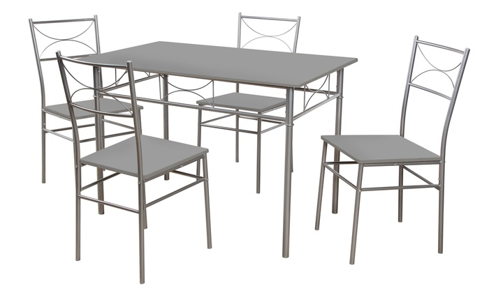 Jusqu A 28 Ensemble Table Et 4 Chaises Fork Groupon