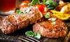 1 kg di grigliata di carne e vino