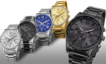Akribos XXIV Mens Multifunction Bracelet Watch