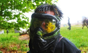 Flagswipe Paintball: Paintball Package with Rental Equipment, Air, and Paintballs for 2, 4, or 10 at Flagswipe Paintball (Up to 55% Off)