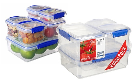 One or Two Sets of Sistema KlipIt Storage Containers