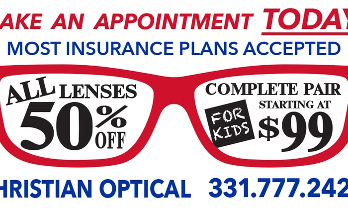 Christian Optical - Downers Grove: $79 for $200 Worth of Prescription Glasses/Sunglasses at Christian Optical