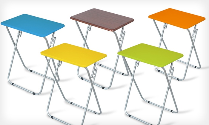 Wooden Folding Table : $19 for a Wooden Folding Table ($49.99 List Price). Five Colors Available. Free Shipping and Free Returns.