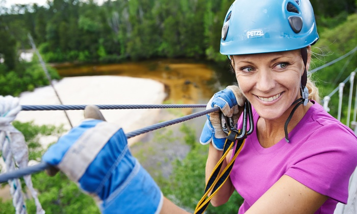 Adventures Unlimited - Milton, FL: $89 for a Three-Hour Taste of The Tours Zipline Excursion from Adventures Unlimited ($178 Value)