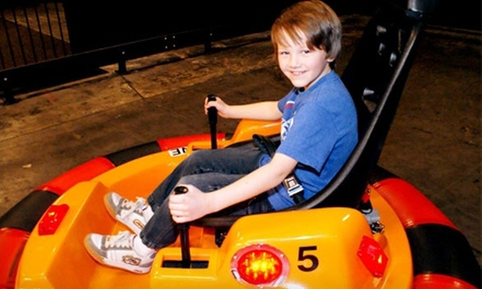 Planet Play - Draper: $55 for a Family Amusement-Park Outing with Unlimited Attractions and Buffet Access at Planet Play ($175.96 Value)