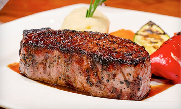 Wildfire Steakhouse & Wine Bar - North York: $89 for a Four-Course Dinner for Two with Wine at Wildfire Steakhouse & Wine Bar (Up to $180 Value)