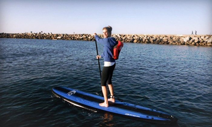SUP Shack - Santa Cruz Harbor: Standup-Paddleboard Lesson or a Two-Hour Rental at SUP Shack (Up to 53% Off)