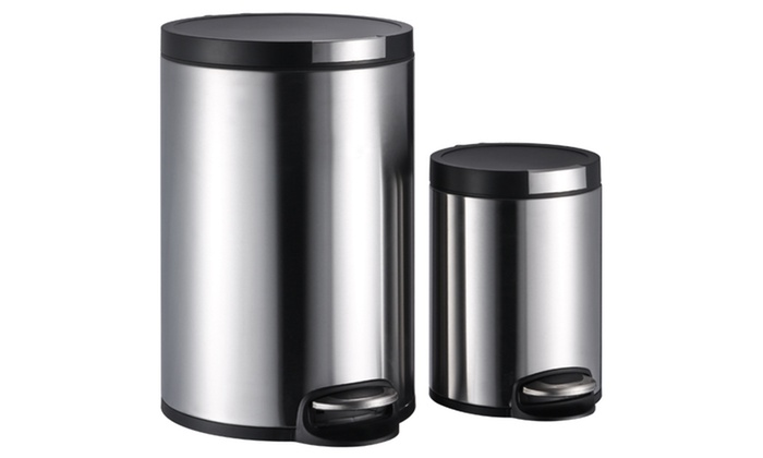 Stainless Steel Trashcan Set: Stainless Steel Trashcan Set. Free Shipping and Returns.