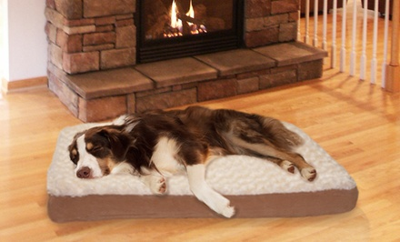 groupon daily deal - Faux Fur Deluxe Orthopedic Pet Mattress. Multiple Colors and Sizes from $18.99-$39.99. Free Returns.