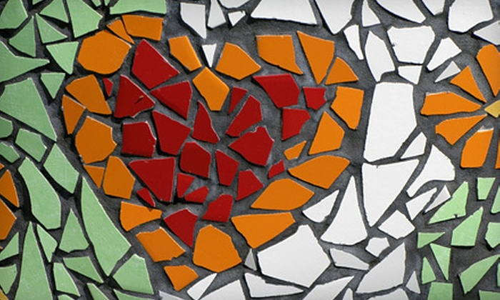 Mosaic on a Stick - Hamline - Midway: BYOB Mosaic-Making Class for One or Two, or Private Party for up to Eight at Mosaic on a Stick (Up to 52% Off)