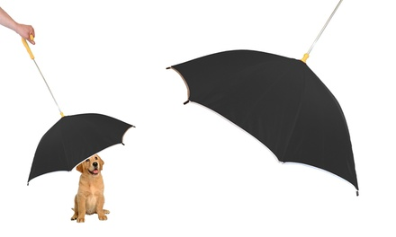 Pour-Protection Umbrella with Leash Holder for Dogs