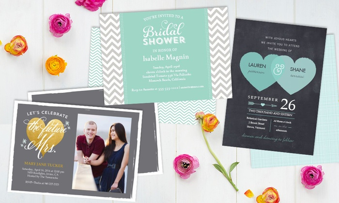 Staples - Indianapolis: Staples Custom Next-Day Flat Invitations (Up to 54% Off)