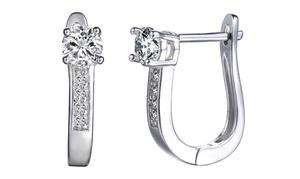3.00 Cttw Hoop Earrings With Swarovski Elements Crystals