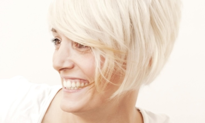 A Womens Haircut With Shampoo And Style From Salon E 55 Off