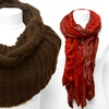 Long Wrinkled Muffler or Eternity Scarf