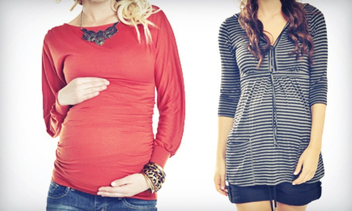 Pickles & Ice Cream Maternity Apparel - Edmond: Designer Maternity Clothes and Accessories at Pickles & Ice Cream Maternity Apparel (Half Off). Two Options Available.
