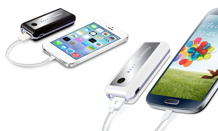 MiiKey MiiPower Light Portable Battery Charger for Smart Phones: MiiKey MiiPower Light Portable Battery Charger for Smart Phones; Black or White Available