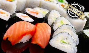 Sushi Lounge: Große Sushi-Platte mit Sashimi nach Art des Sushi-Chefs für 2 oder 4 Personen in der Sushi Lounge (bis zu 36 sparen*)
