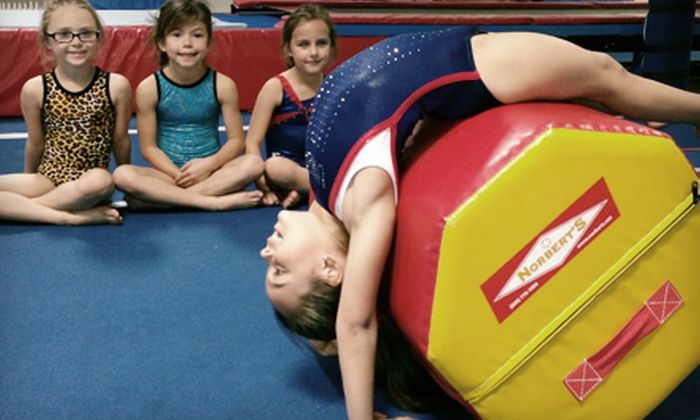 United Gymnastics Academy - Helotes: One or Two Months of Kids' Gymnastics or Tumbling Classes at United Gymnastics Academy (52% Off)
