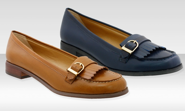 G.H. Bass Women's Faux-Leather Loafers: G.H. Bass Women's Faux-Leather Loafers. Three Colors Available. Free Shipping and Returns.