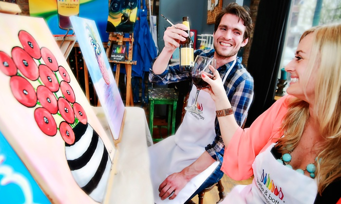 Bottle & Bottega New Jersey Central - Bottle & Bottega New Jersey (Central): Painting Party for One, Two, or Four at Bottle & Bottega New Jersey Central (Up to 43% Off)