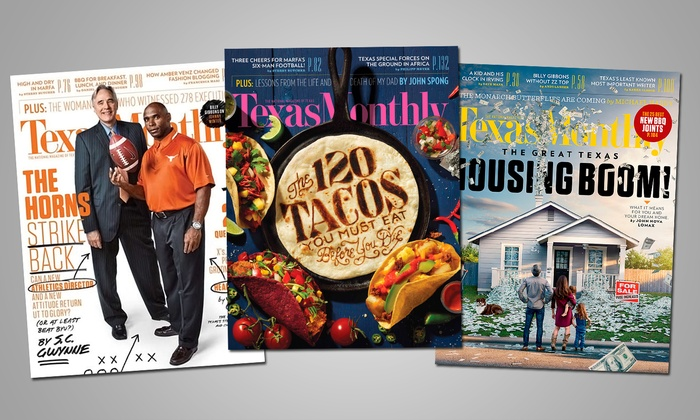 """Texas Monthly"": One- or Two-Year Subscription to ""Texas Monthly"" (Up to 55% Off)"
