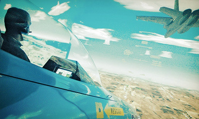Flightdeck Air Combat Center - Anaheim: $29 for a Fox-1 Combat Mission in a Fighter-Jet Simulator at Flightdeck Air Combat Center ($59 Value)