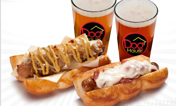 Dog Haus - Alhambra: $16 for Sausages and Beer for Two at Dog Haus ($25.98 Value)