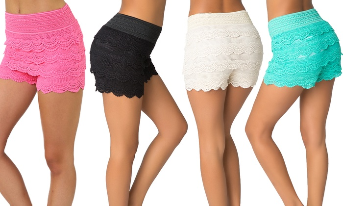 Women's Summer Lace Shorts