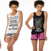 Women's Novelty Tank and PJ Sets (2-Pack)