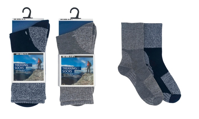 Groupon Goods Global GmbH: Lot de 2 ou 4 paires de chaussettes de trekking