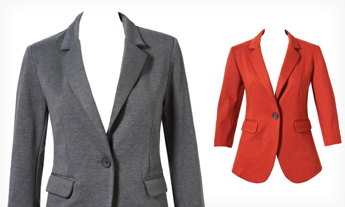 Women's Ponte or Jacquard Blazers: $28.99 for a Women's Ponte or Jacquard Blazer (Up to $92 List Price). Multiple Styles. Free Shipping and Returns.