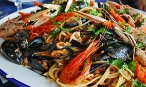 IL CANTALUPO: Menu di mare di 3 portate con uno o 2 kg di spaghetti allo scoglio e calice di vino da Il Cantalupo (sconto fino 66%)