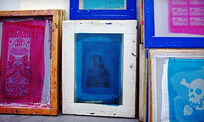 Polluted Eyeball - Entrance at 2 Harrison Place: Screenprinting Class for One, Two, or Four at Polluted Eyeball (Up to 70% Off)
