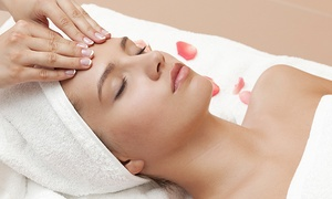 M2V Esthétique: Facial with Optional Massage, Exfoliating Body Treatment and Body Wrap at M2V Esthétique (Up to 72% Off)