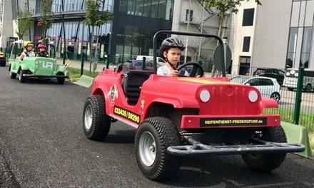 5er-Karte für Fahrten im Mini-Auto am Verkehrsübungsplatz für Kinder beim Jumicar Verkehrsevent (22% sparen*)